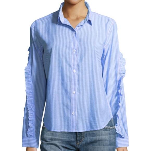 70c16d90c76172 Rails Tops | New Lizzi Ruffled Poplin Shirt | Poshmark